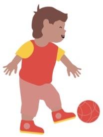Kind schopt bal weg