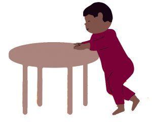 Bewegen met je baby vasthouden en lopen