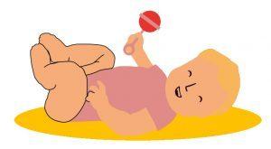 Bewegen met je baby geluid rammelaar