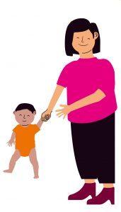 Bewegen met je baby samen lopen