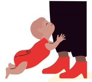 Bewegen met je baby optrekken