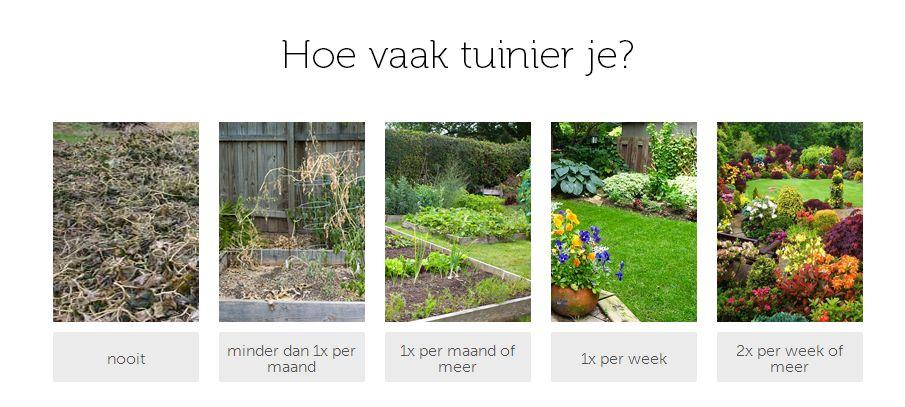 Eén van de vijftien vragen gaat over tuinieren sportkeuzetest