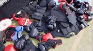 boksmateriaal zoals handschoenen en bescherming