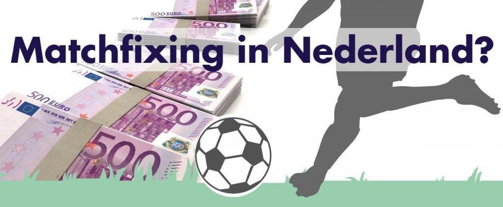 Illustratie met de vraag matchfixing-in-nederland? waarbij geld en een voetballer wordt afgebeeld