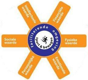 De effecten van sport en bewegen worden in de Human Capital Model ingedeeld op basis van zes kernwaarden