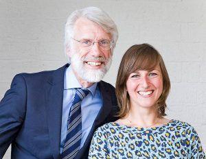 Erik Scherder (l) en Sara Galla (r) Fotograaf: Leen Dekker