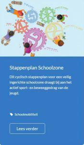 Afbeelding van het stappenplan Schoolzone