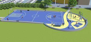 ontwerp multifunctioneel sportveld Noorderpoort Laanhuizen