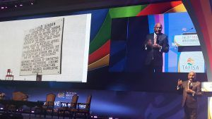 Sam Ramsamy (IOC) bij TAFISA World Congress in Seoul