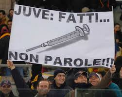 spandoek Juventus supporters over doping in het voetbal