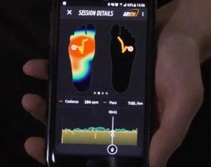 schermafbeelding van een telefoon met een analyse van loopgedrag
