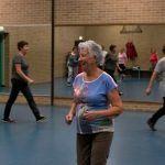 Ouderen in een sportzaal