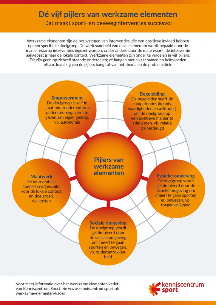 Infographic Dé vijf pijlers van werkzame elementen