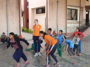 Volleybal activiteiten in Nepal