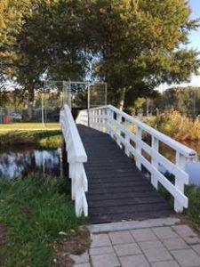 klein brug in een sportpark