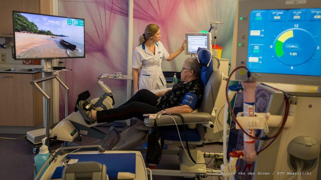 patiënt behandeld nierdialyse in het Ziekenhuis