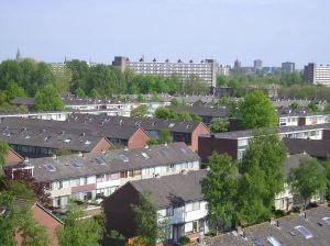 woonwijk van bovenaf gefotografeerd