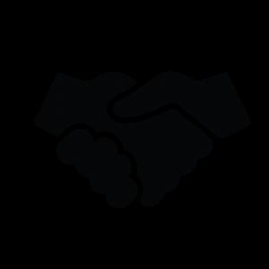 ikoon twee handen die ineengeslagen worden