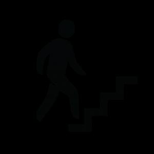 ikoon mannetje dat trap oploopt