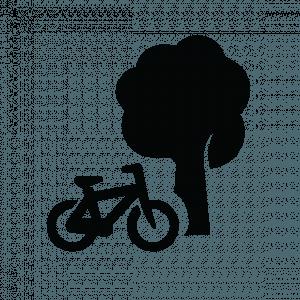 icoon fiets tegen een boom