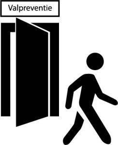 icon lopen aan deur