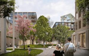 Toekomstbeeld van de Merwedekanaalzone in Utrecht (bron: KCAP.nl)