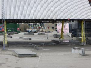 dansplein in een Skatepark.