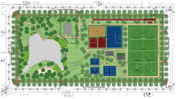 ontwerp sportvelden