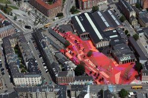 foto genomen van boven een stad